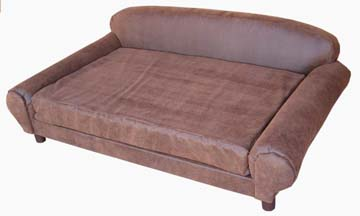 Large Pet Sofa Brown Faux Leather