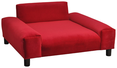 red gustavo dog sofa